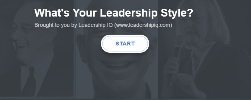 Screenshot of Leadership IQ's leadership style quiz