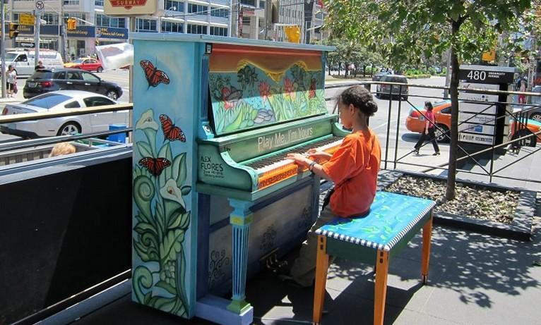 Пианино в общественных местах