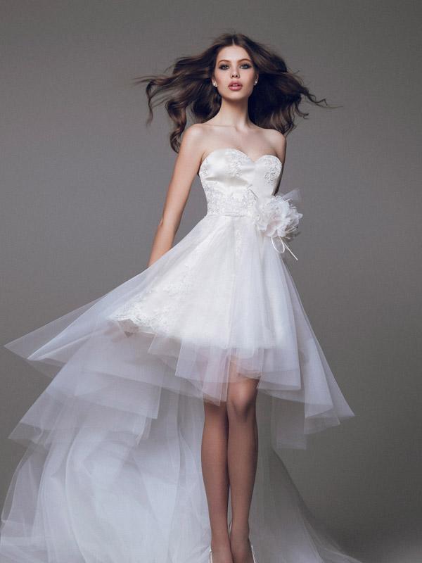 Свадебное платье для невысокой девушки
