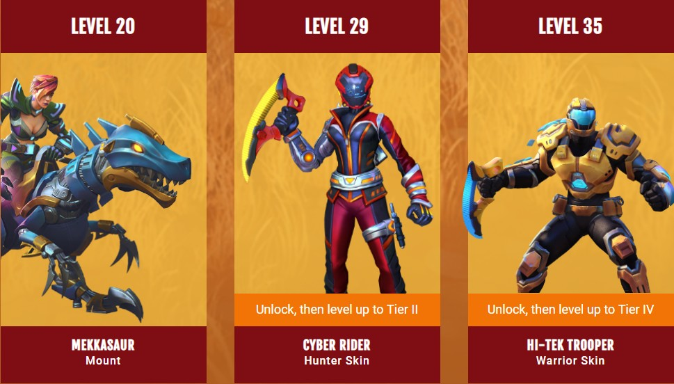 Realm Royale Battle Pass items - Season 3