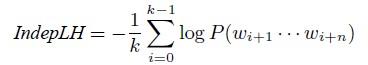 Формула для расчёта индекса независимых правдоподобий